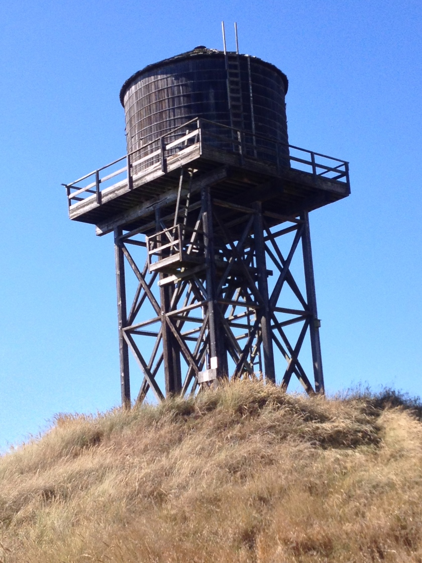 Old water tower on Protection Island