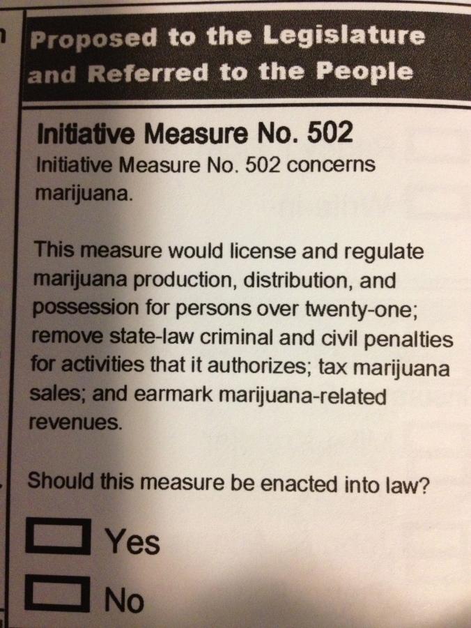 Initiative 502 on the State of Washington ballot