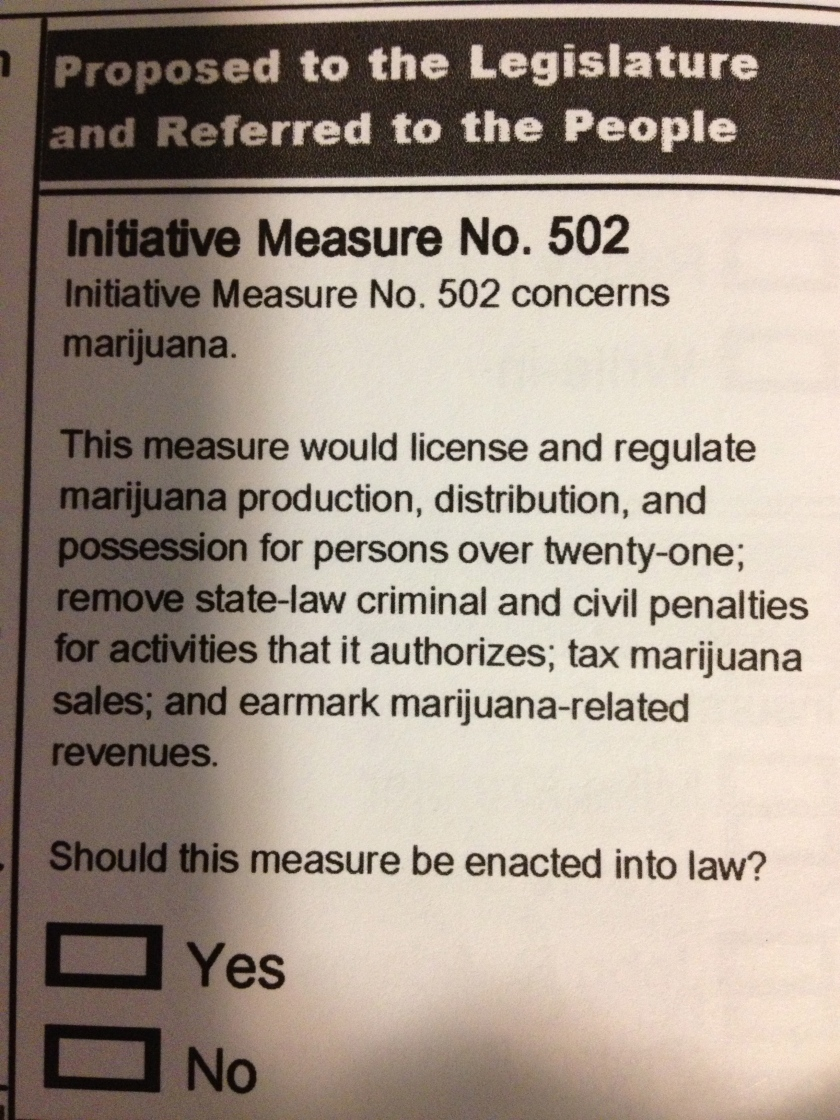 Initiative 502 on the State of Washington ballot