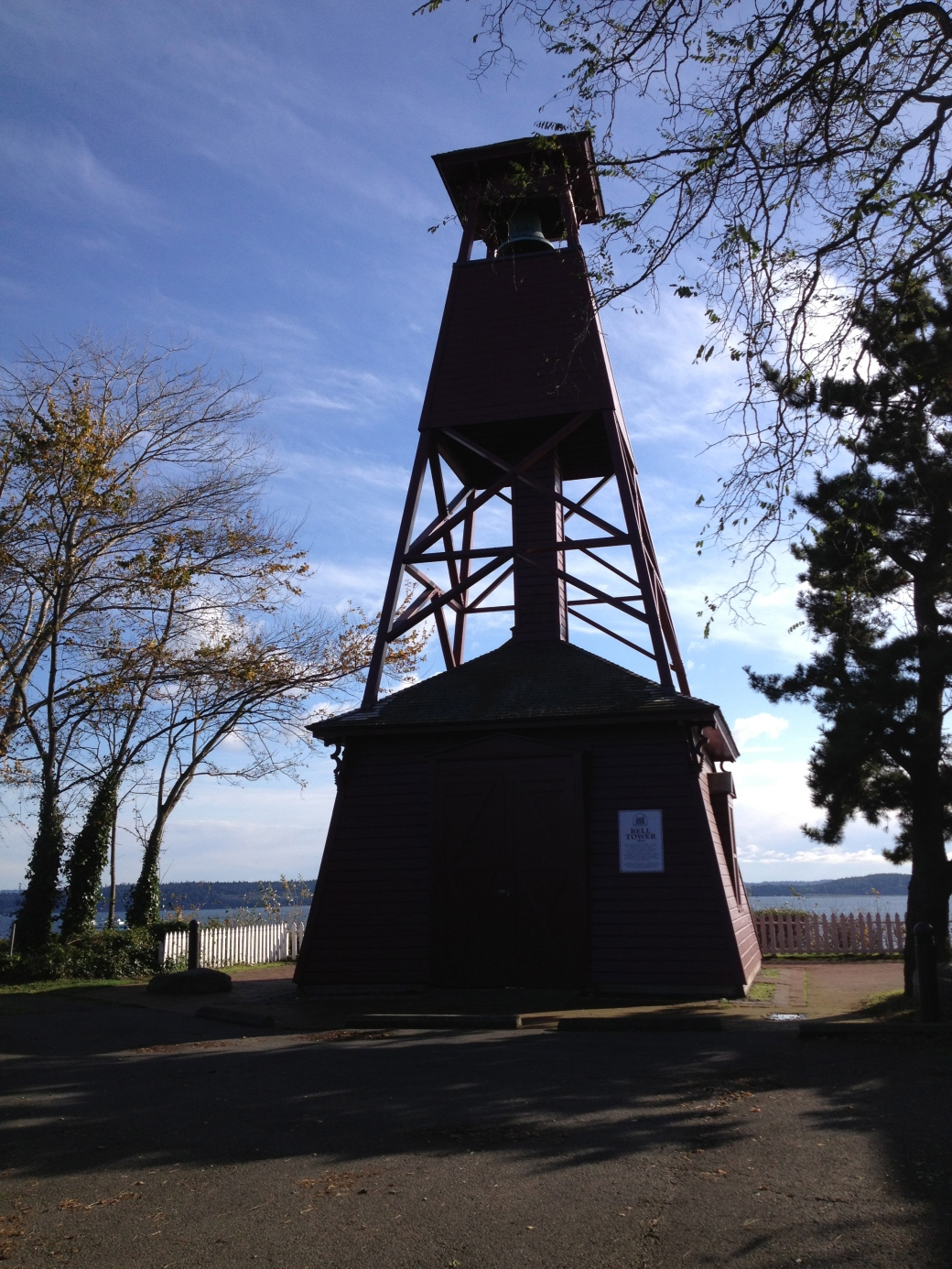 Bell tower in Port Townsend; it is the only one of its kind in the country.