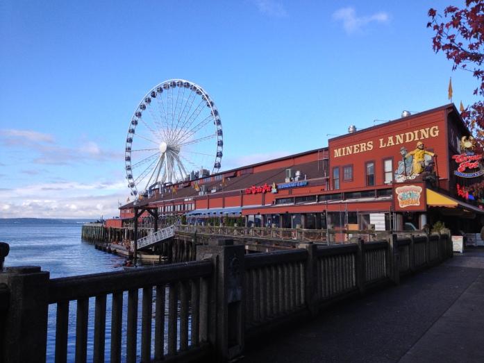 Ferris wheel on Seattle waterfront - it's 175 feet high!