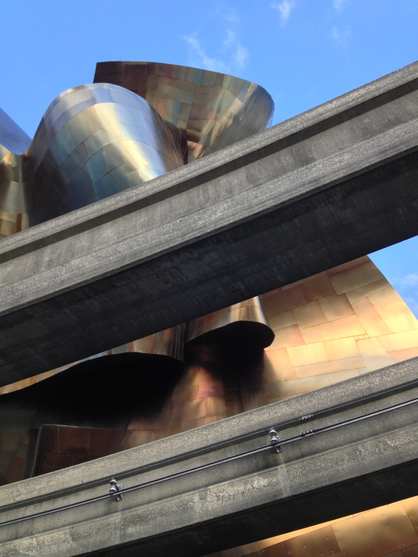 EMP seen from under monorail