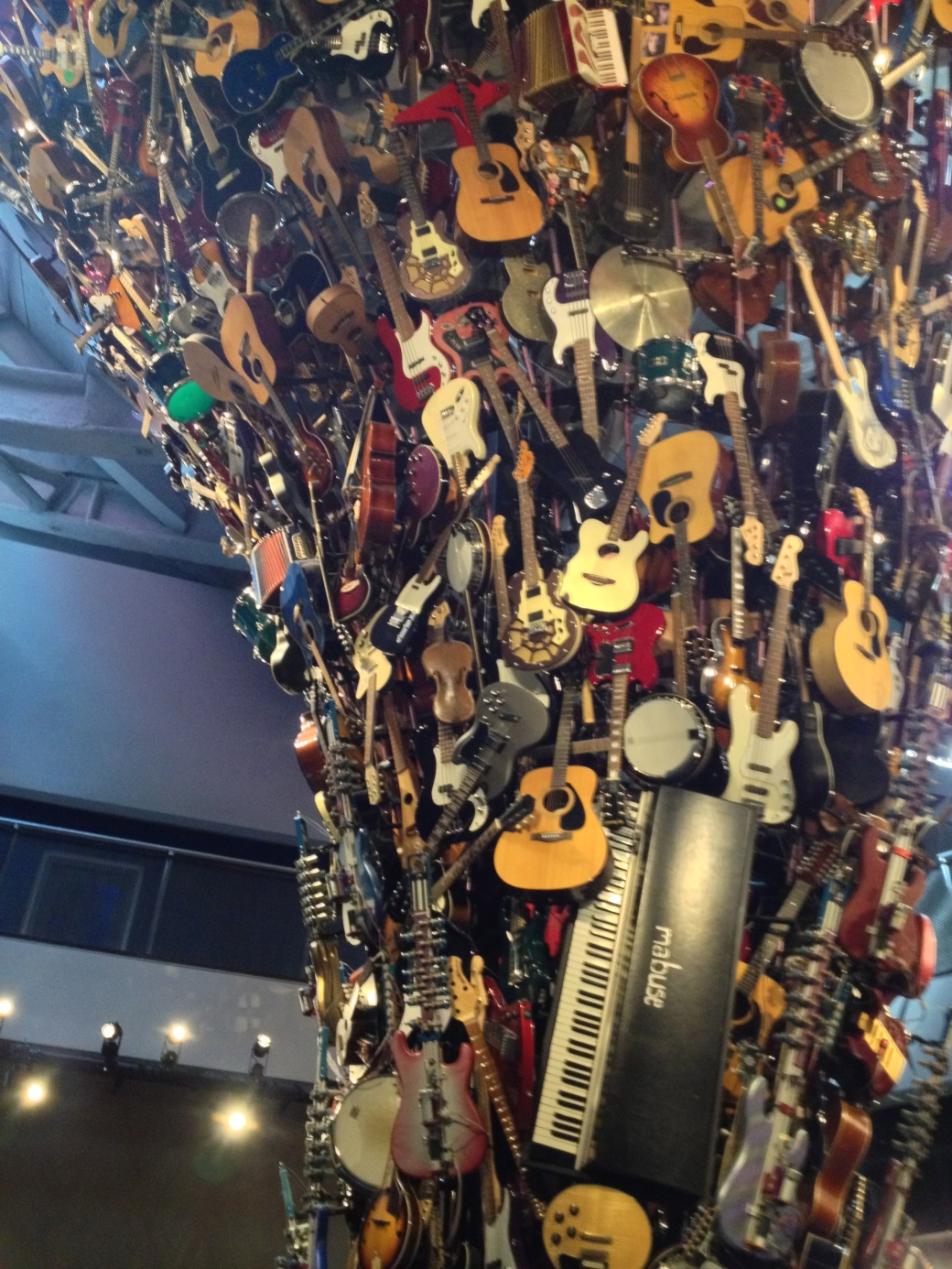 Instrument sculpture in EMP - over 700 instruments!
