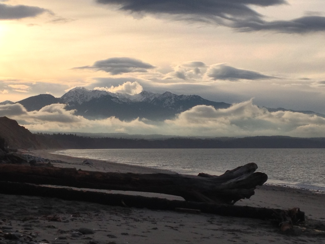 Olympic National Park from The Spit