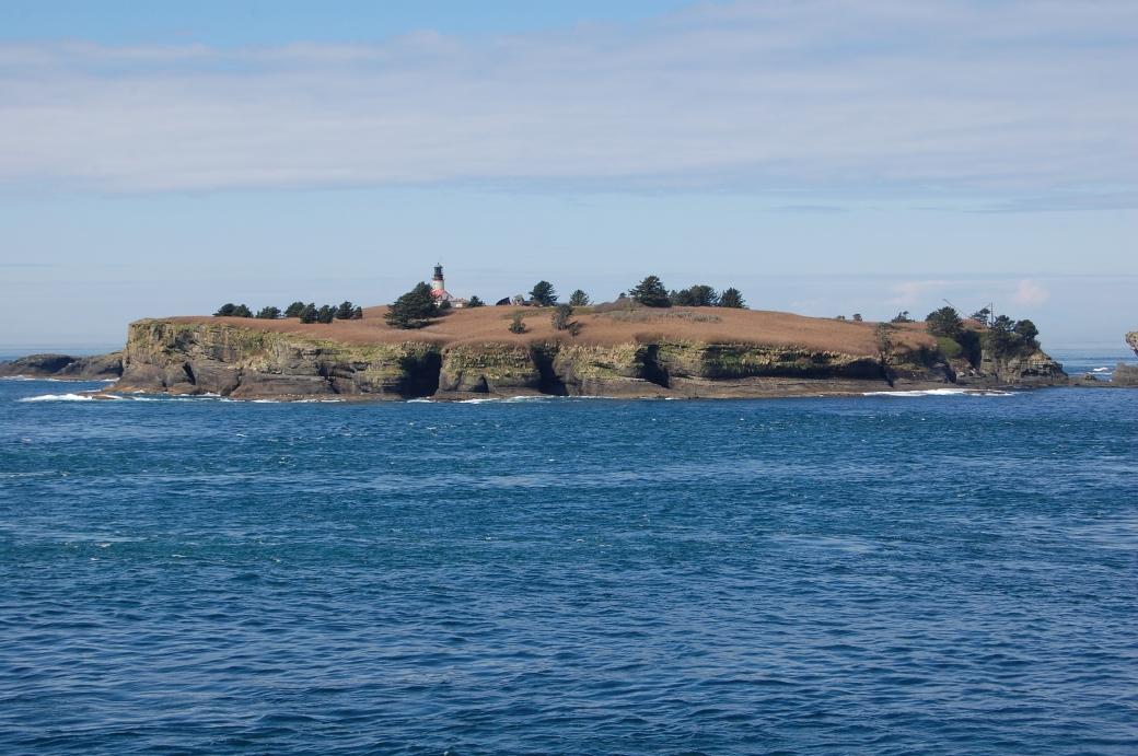 Island with lighthouse - Cape Flattery, Neah Bay, WA