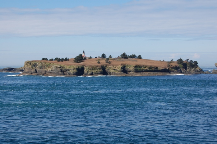 Island with lighthouse - Cape Flattery, Neah Bay, WA