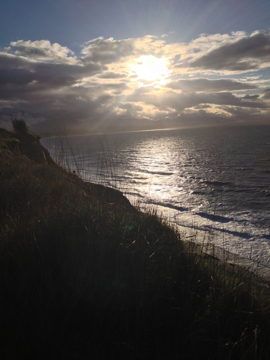Sunset Over the Olympics - Dungeness National Wildlife Refuge