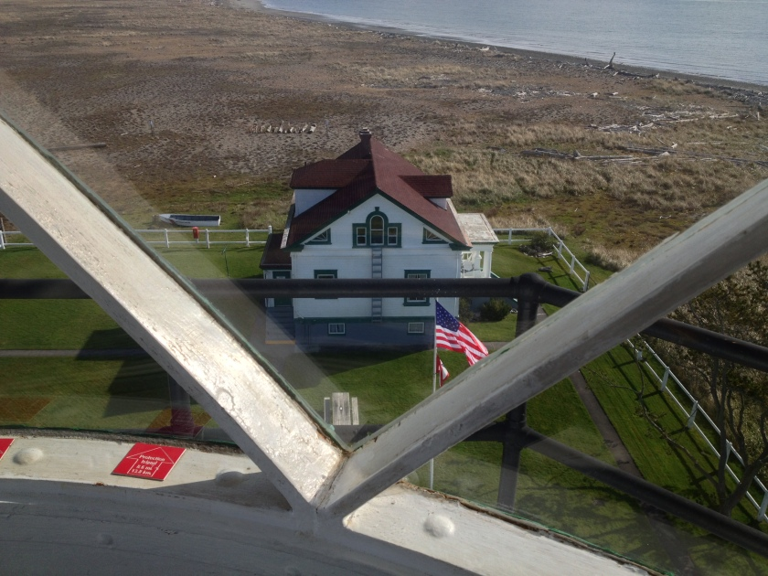 Lightkeeper's House as seen from the New Dungeness Light Station - Sequim, WA