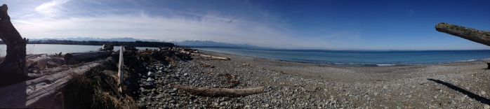 Olympic Mountains panorama from Dungeness Spit, Sequim, WA
