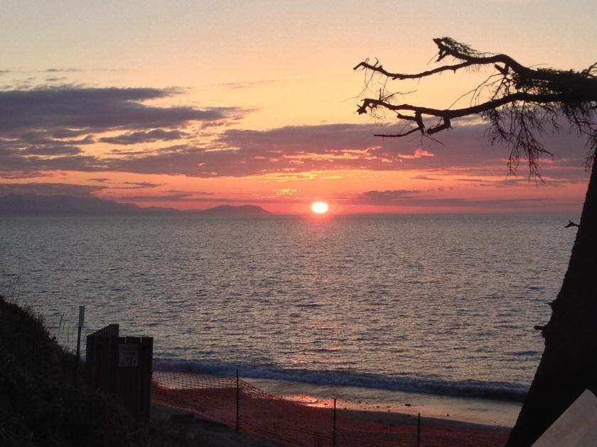 Sunset at Dungeness National Wildlife Refuge - Sequim, WA
