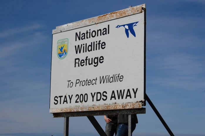 Sign We Put Up on Hall Island - San Juan Islands NWR, Washington