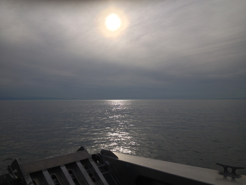 Sunset over the Strait of San Juan de Fuca on the way back home after a long day