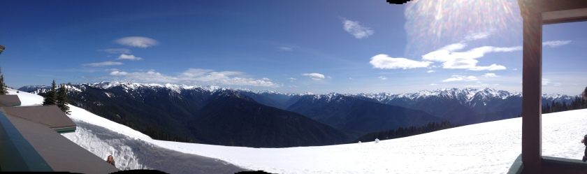 Panorama from Hurricane Ridge, Olympic National Park - near Port Angeles, WA