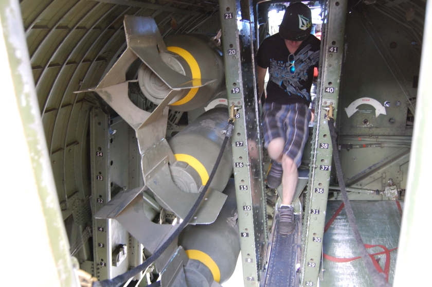 Bombs in bomb bay - B-17 Flying Fortress