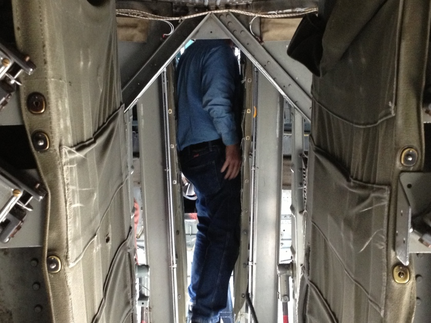 "Catwalk though bomb bay - B-24 Liberator - ""Witchcraft"""