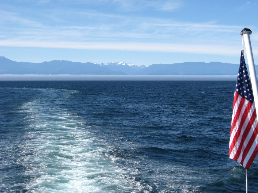Fog bank and the Olympics - Strait of San Juan de Fuca 15