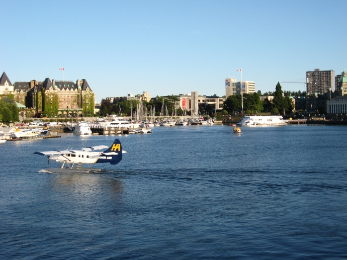View from the MV Coho leaving the harbor at Victoria, BC