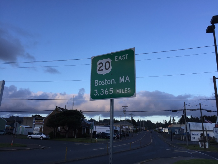 The Western end of U.S. 20 - Newport, OR