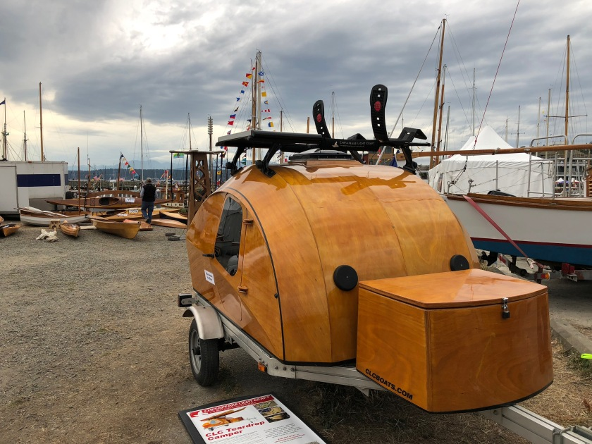 Wooden Teardrop Trailer