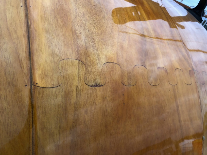 Detail on Wooden Teardrop Trailer